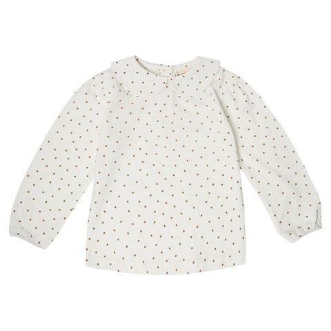 Peter Pan Collar - Gold Dot