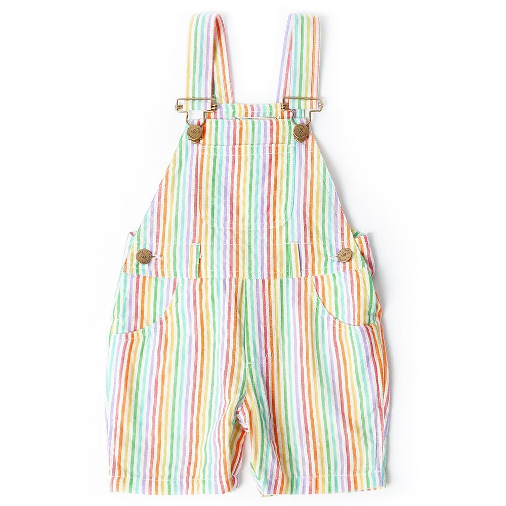 dotty-dungarees-ltd, Rainbow Seersucker Shorts