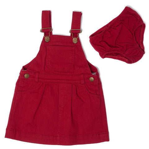 dotty-dungarees-ltd, Red Denim Dress
