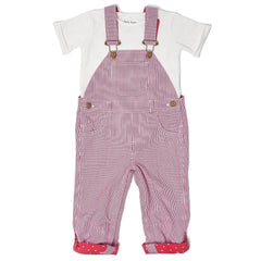 dotty-dungarees-ltd, Red Stripe Dungarees