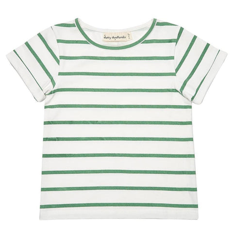 dotty-dungarees-ltd, Green Stripe Summer T-Shirt
