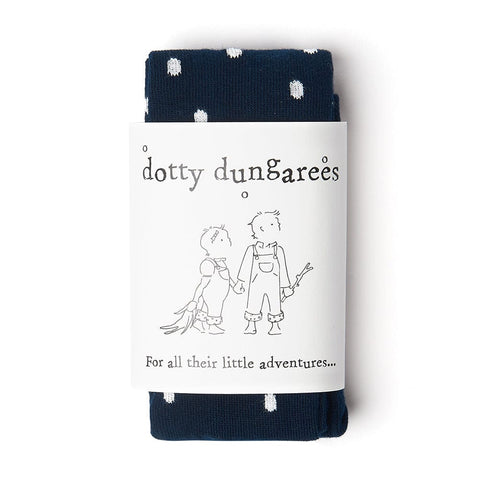 dotty-dungarees-ltd, Dotty Tights - Navy