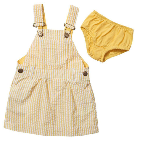 dotty-dungarees-ltd, Yellow Seersucker Dress