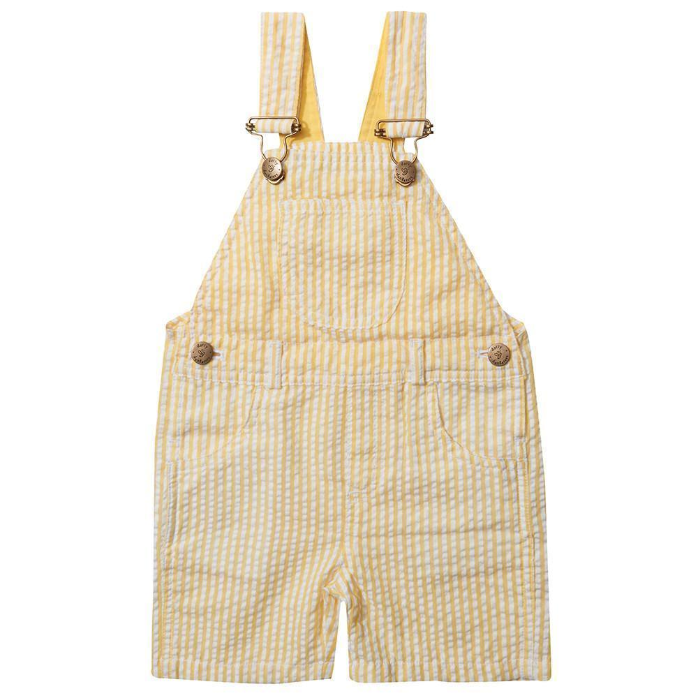 dotty-dungarees-ltd, Yellow Seersucker Shorts