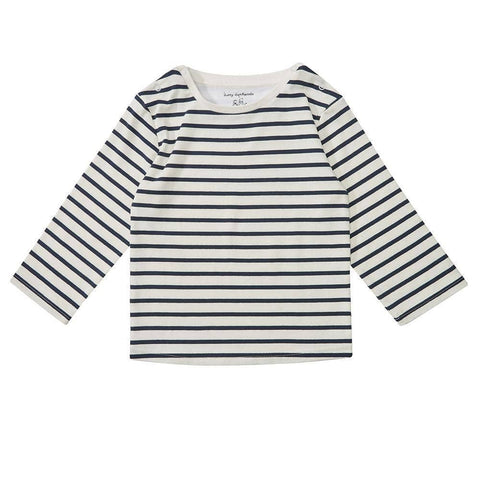 dotty-dungarees-ltd, Navy Breton Stripe Top