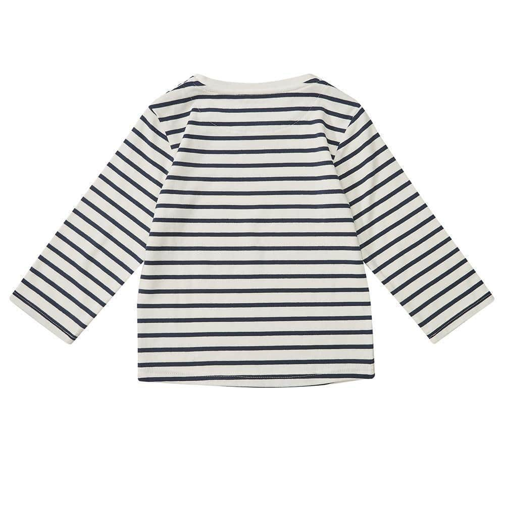 Navy Breton Stripe Top