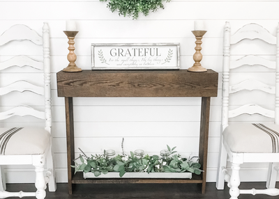 Create Your Own Farmhouse Style Console with the Daily DIYer