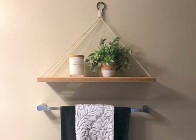 Build This DIY Hanging Shelf to Elevate Any Bathroom