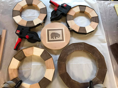 Woodturning project featuring a Walnut wood inlay created by F2H community member and woodturner. Project created from Forest 2 Home premium hardwood lumber