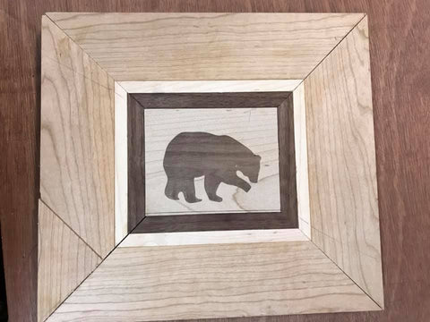 Woodworking project Walnut wood inlay featuring Forest 2 Home lumber