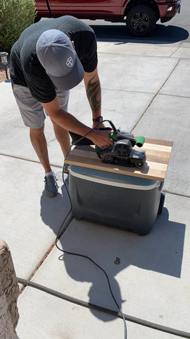 Sanding custom made woodworking project