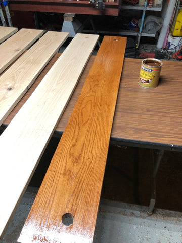 Stained Red Oak Wood