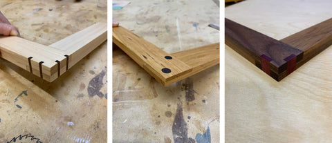 Joinery created with Forest 2 Home North American Hardwood lumber and hand tools.