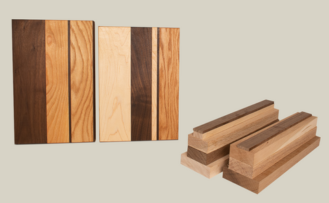 Custom cutting board kit crafted by Forest 2 Home. Shop F2H cutting board kits that feature premium hardwood lumber in species including Walnut wood, Cherry wood, Hard Maple wood, Ash Wood, Red Oak wood and White Oak wood.