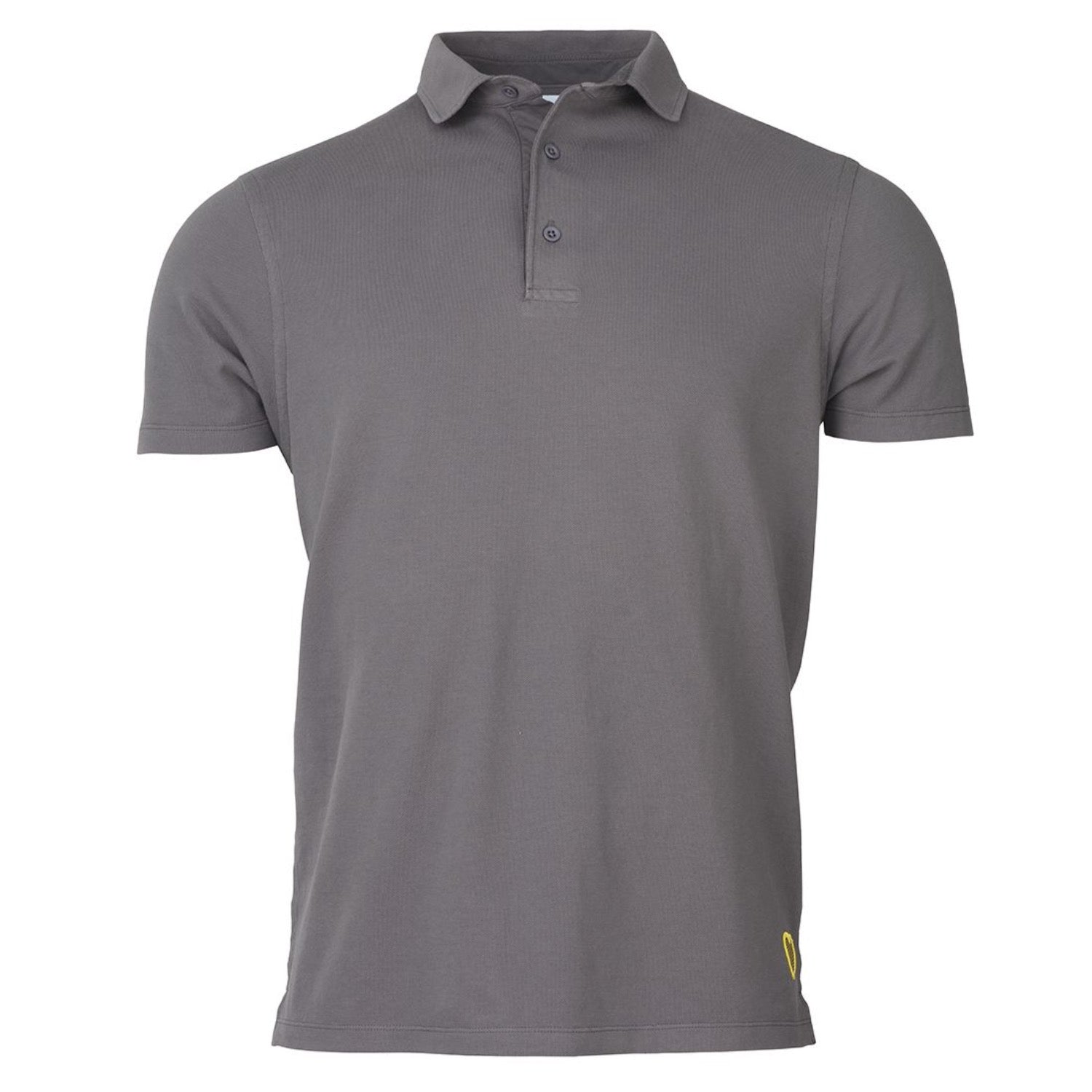 Tweedlove Heart Badge Polo - Steel