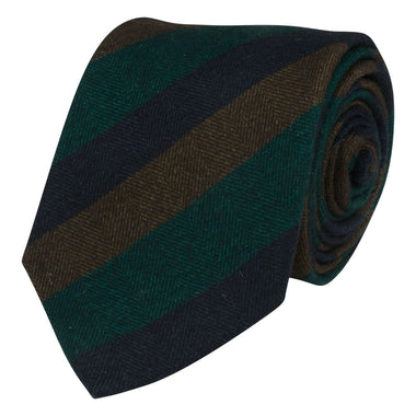 Portia1924 Green Tie Cotton Flannel Striped