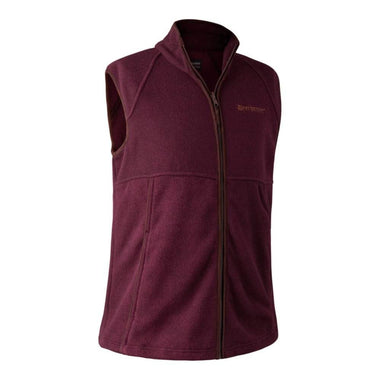 Deerhunter Wingshooter Fleece Vest - Bordeaux