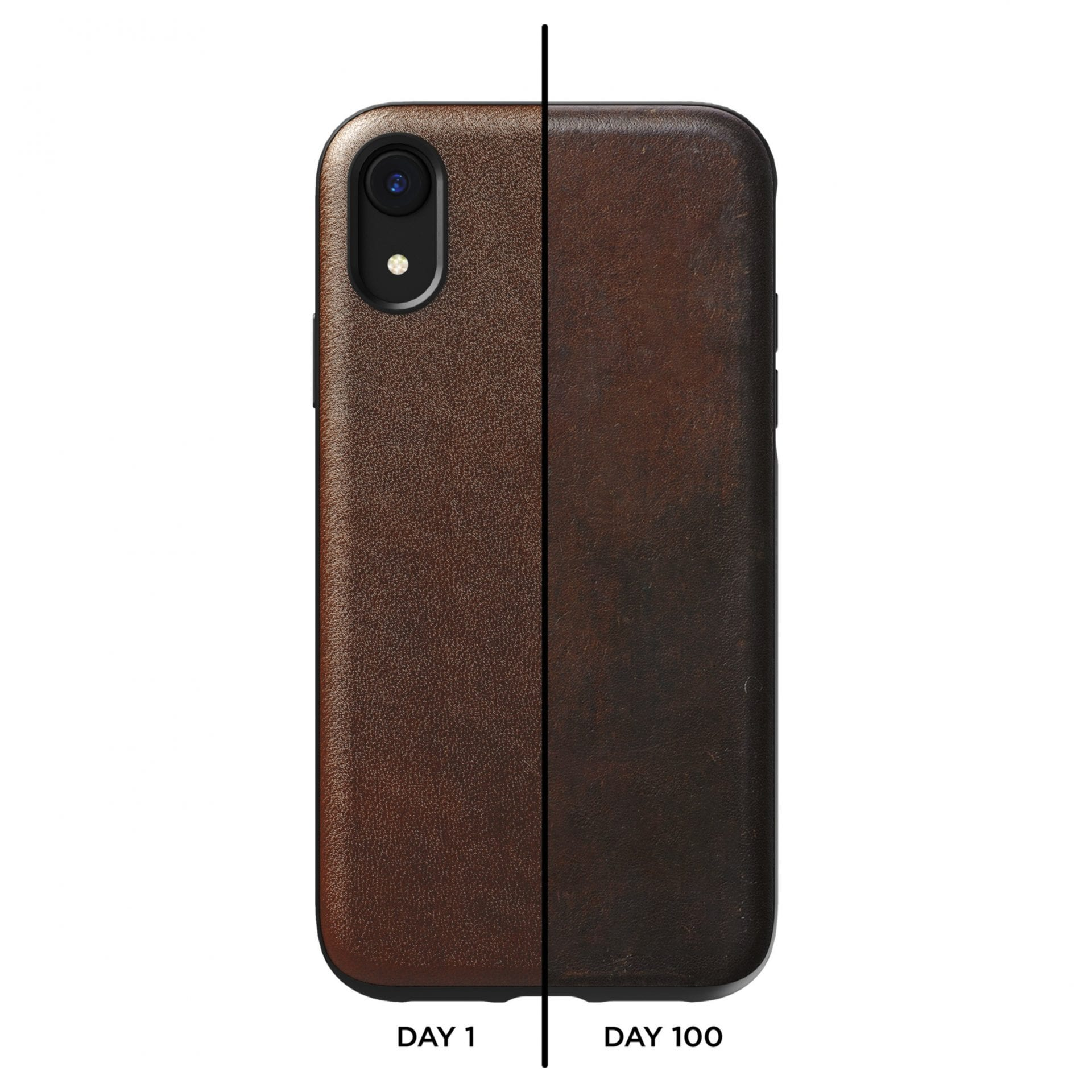 NOMAD iPhone XR Rugged Case - Rustic Brown - Netnaturshop
