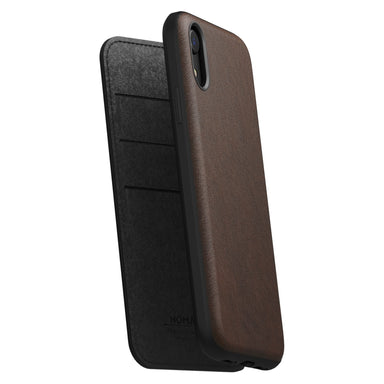 NOMAD - RUGGED FOLIO - RUSTIC BROWN LEATHER | IPHONE XR - Netnaturshop