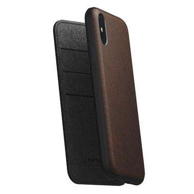 NOMAD - RUGGED FOLIO - RUSTIC BROWN LEATHER | IPHONE XS