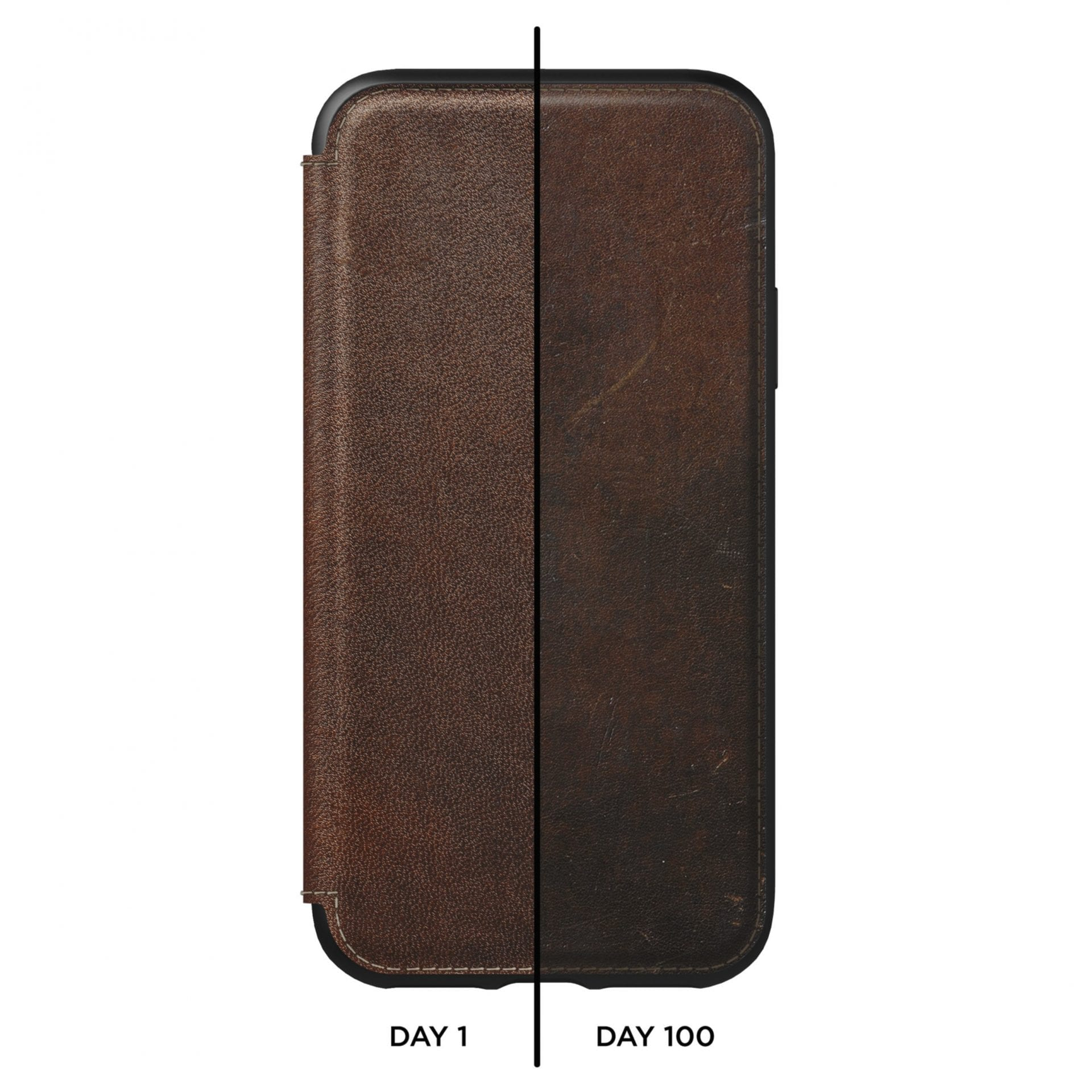NOMAD - RUGGED FOLIO - RUSTIC BROWN LEATHER | IPHONE XS - Netnaturshop