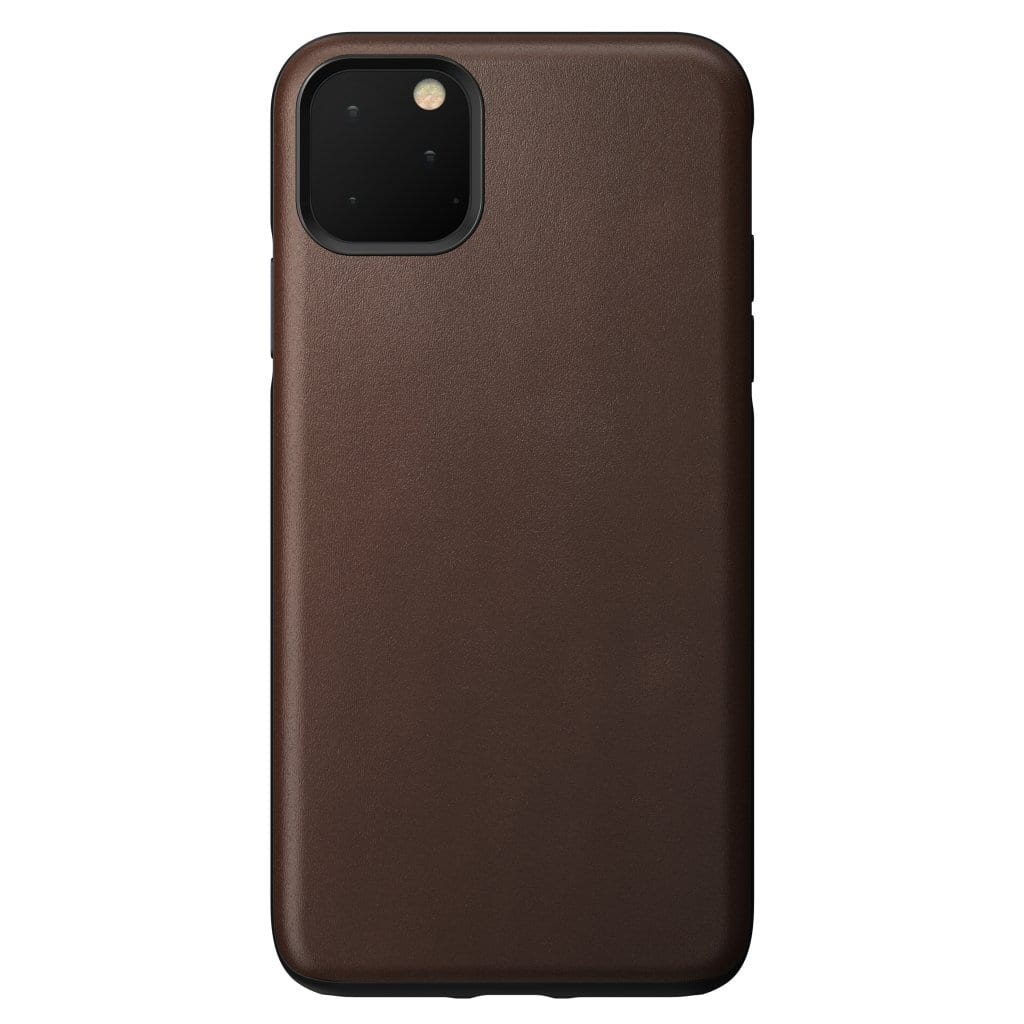 NOMAD - RUGGED LEATHER CASE FOR IPHONE 11 PRO MAX RUSTIC BROWN - Netnaturshop
