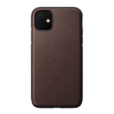NOMAD - RUGGED LEATHER CASE FOR IPHONE 11 RUSTIC BROWN