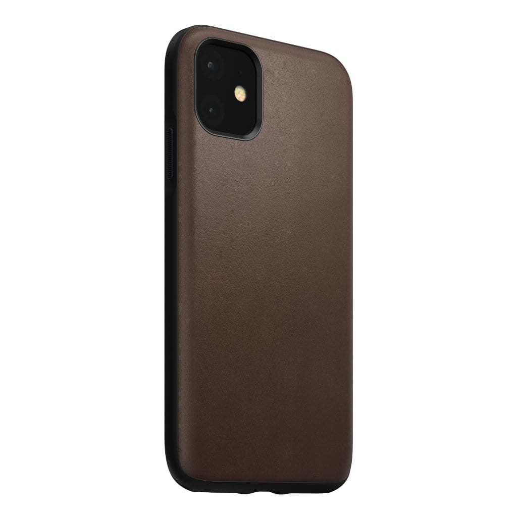 NOMAD - RUGGED LEATHER CASE FOR IPHONE 11 RUSTIC BROWN - Netnaturshop