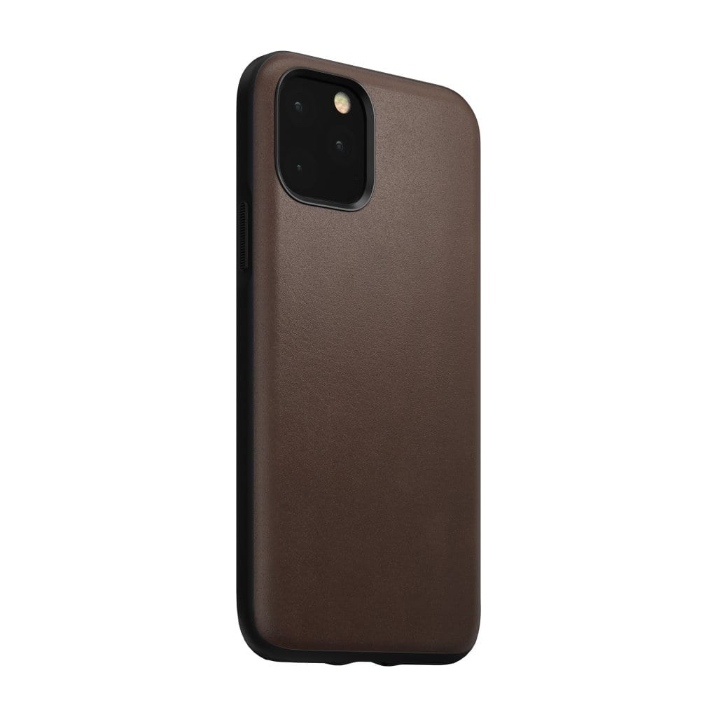 NOMAD - RUGGED LEATHER CASE FOR IPHONE 11 PRO - RUSTIC BROWN - Netnaturshop