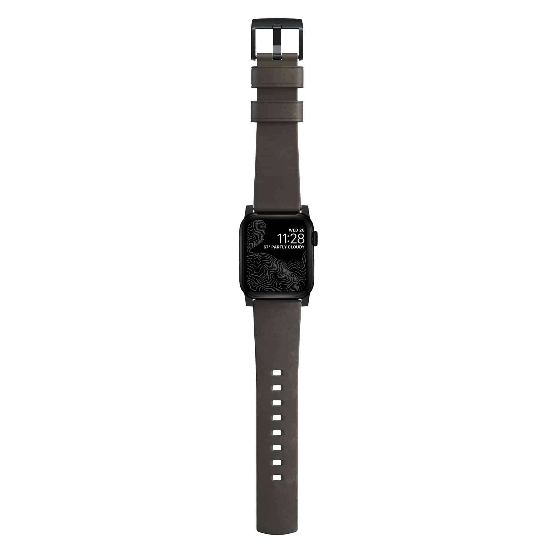 NOMAD - MODERN STRAP - 44MM/42MM | MOCHA BROWN ACTIVE LEATHER | BLACK HARDWARE - Netnaturshop