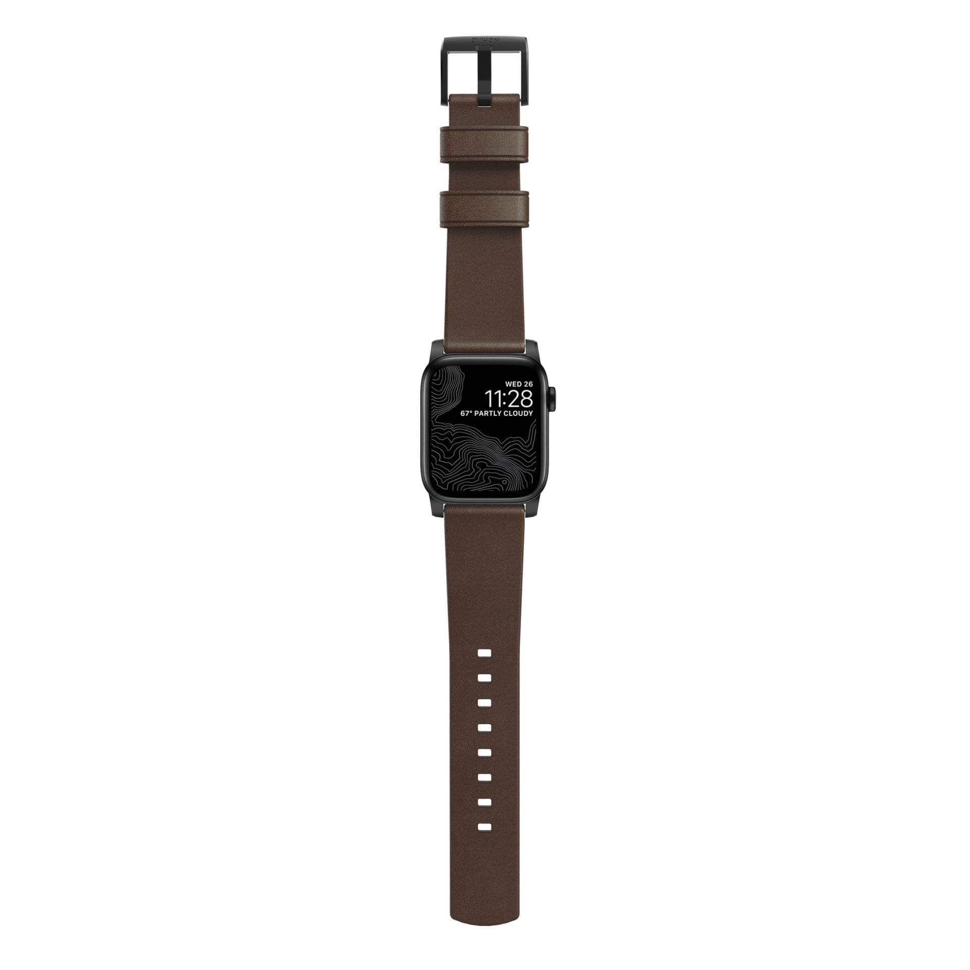 Nomad - Modern Strap | Black Hardware | Rustic Brown Leather - Netnaturshop