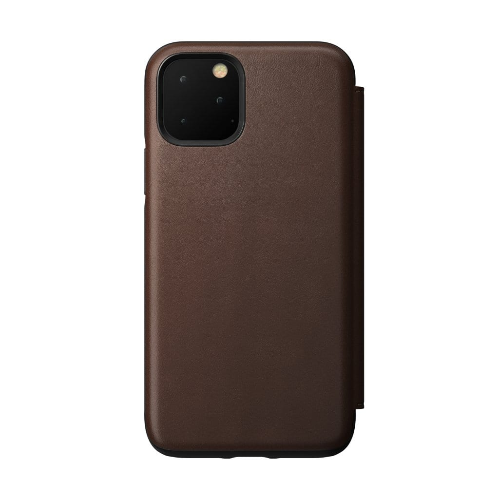 NOMAD - RUGGED LEATHER FOLIO FOR IPHONE 11 PRO RUSTIC BROWN - Netnaturshop