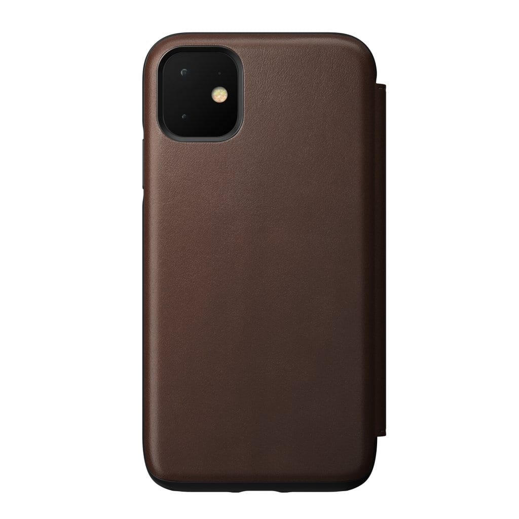 NOMAD - RUGGED LEATHER FOLIO FOR IPHONE 11 RUSTIC BROWN - Netnaturshop