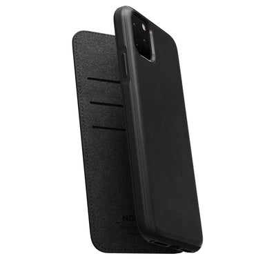 NOMAD - RUGGED LEATHER FOLIO FOR IPHONE 11 PRO MAX BLACK - Netnaturshop