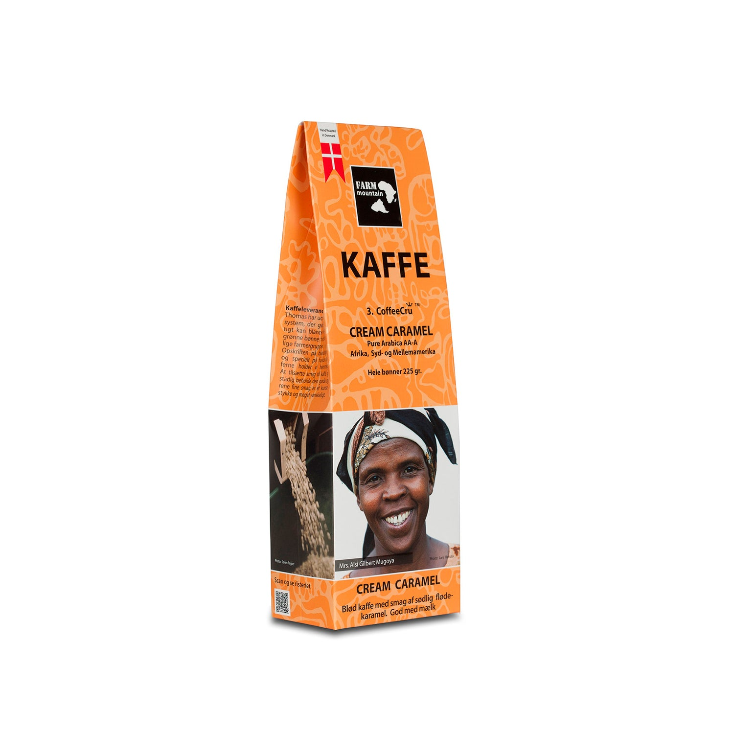 Farm Mountain Cream Caramel - Hele kaffebønner, 225 grams pose - Netnaturshop