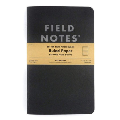 Fieldnotes Black XL Notesbog 2-Pak - Netnaturshop