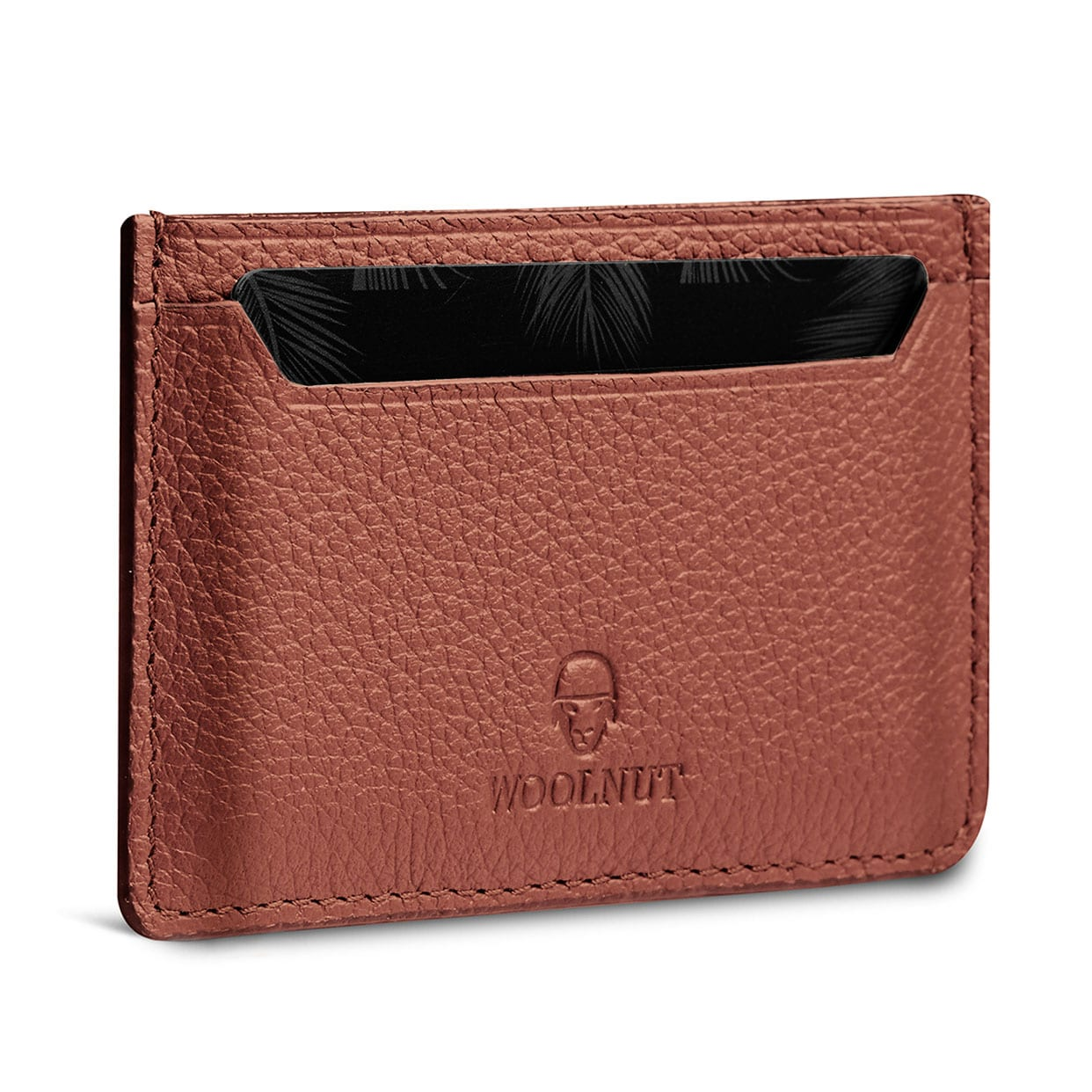 Woolnut Card Holder - Cognac Brown - Netnaturshop