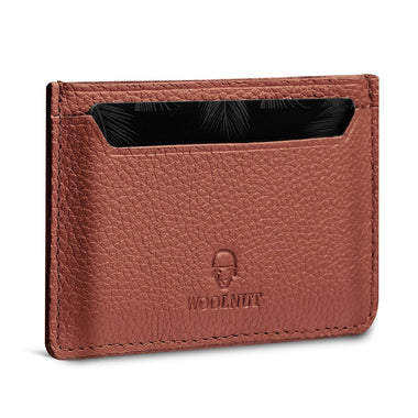 Woolnut Card Holder - Cognac Brown