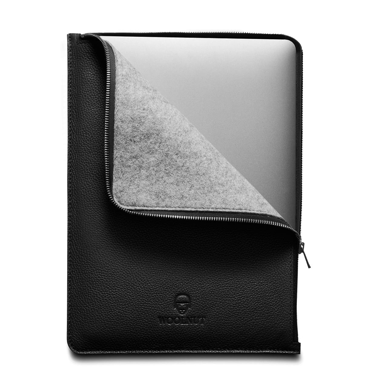 "Woolnut Leather Folio for Macbook 15"" (Late 2016-2019 models with Touch Bar and Thunderbolt 3) - Netnaturshop"