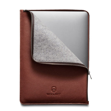 Woolnut Cover Leather Folio for Macbook 16
