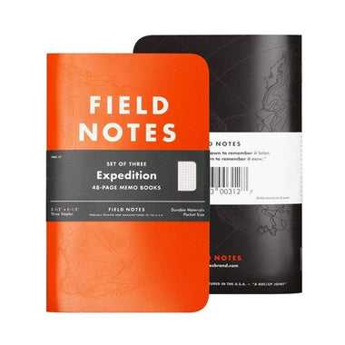 Field Notes Expedition 3-Pak