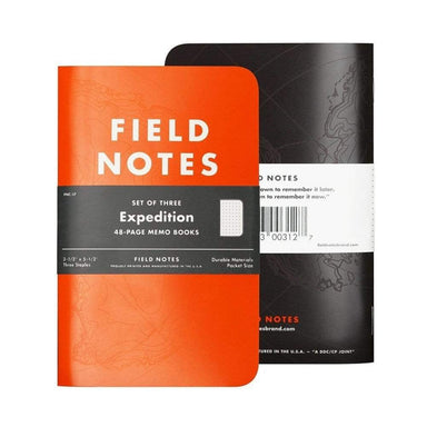 Field Notes Expedition 3-Pak - Netnaturshop