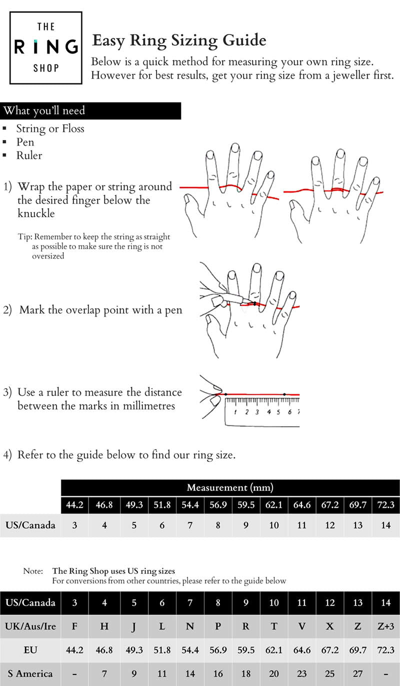 The Ring Shop - Ring Sizing Guide
