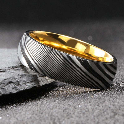 Baron - The Ring Shop - Ring - Damascus, male, Ring, royal