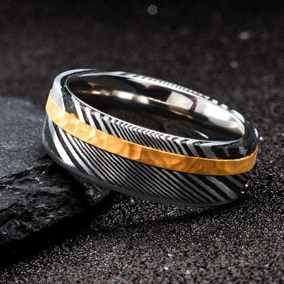 Temper - The Ring Shop - Ring - Damascus, male, Ring, royal