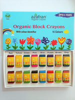 ORGANIC VEGAN CRAYON BLOCKS - 16 COLOURS