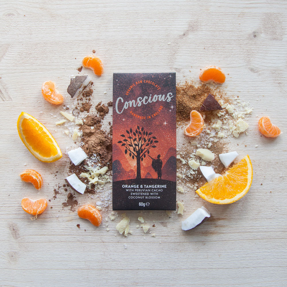 CONSCIOUS CHOCOLATE ORGANIC ORANGE & TANGERINE 60G
