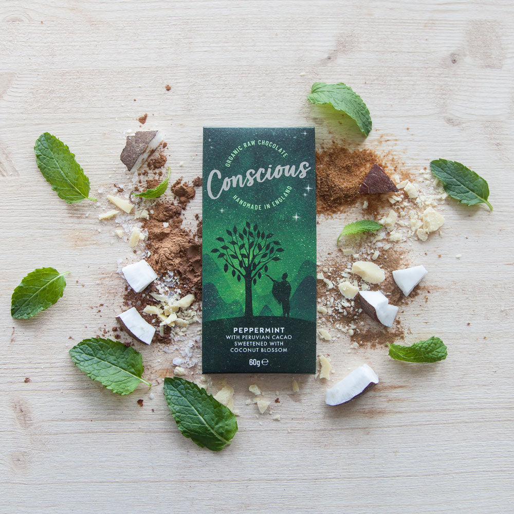 CONSCIOUS CHOCOLATE ORGANIC PEPPERMINT 60G