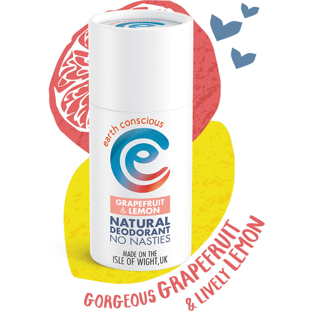 EARTH CONSCIOUS NATURAL GRAPEFRUIT & LEMON DEODORANT STICK 60G