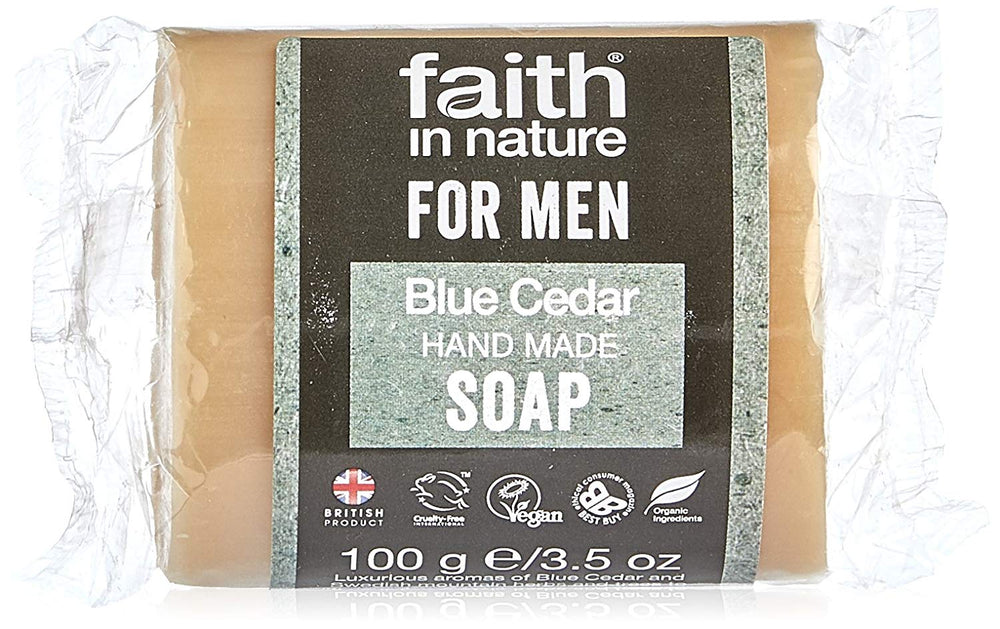 FAITH IN NATURE - BLUE CEDAR SOAP - 100G